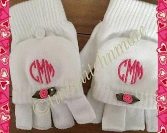 Gloves, mittens, monogrammed