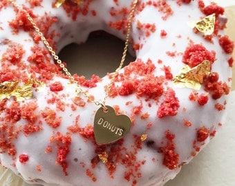 Donuts Heart Charm Necklace