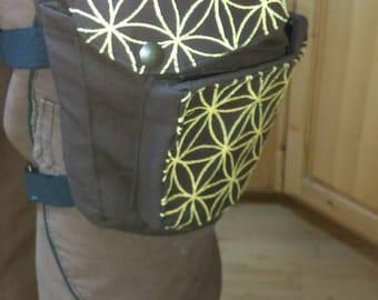 Sacred geometry embroidered hip bag.