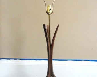 Fabulous Mid Century Danish Modern Teak Lamp w/ Marble Base