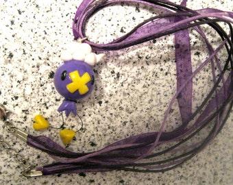 Pokemon Inspired Drifloon Ribbon Necklace