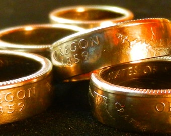 Hand Forged Coin Rings