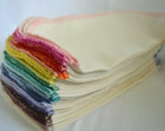 SECONDS 8x8 inches Organic Baby Wipes, Napkins or Washcloths, Pack of 10 - Great Bargain
