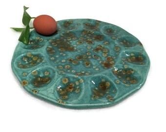 Egg Tray - Deviled Egg Platter - Bali Blue