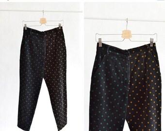 30% OFF STOREWIDE / Vintage 1980s COMPLICE polka-dot pants
