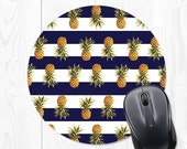 Mouse pad - Pineapple Mouse pad - Striped Mouse pad - Navy Mouse pad - Navy Blue Mouse pad - Navy Mousepad - Pineapple Mousepad