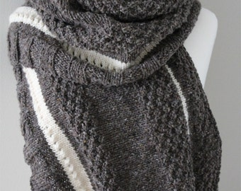 KNITTING PATTERN- The Serenity Stole.  PDF knitting pattern.  Scarf.  Stole. Wrap