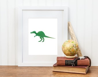 Spinosaurus Dinosaur Printable Nursery Art - Dinosaur Decor - Digital Download - Big Boy Room, Boy Nursery Art, Dinosaur Art