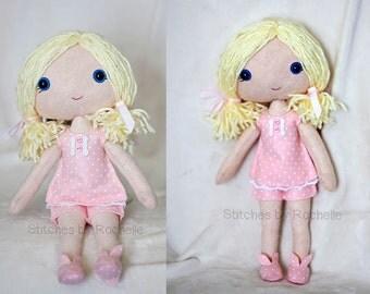 Custom Dress-up Bedtime Felt Doll - Bedtime Doll - Dress-up Doll - Handmade Doll - Custom Doll - Dress-up Doll