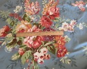 fabric by the yard - Redmond 5th Ave Covington fabric - new, unused, blue, flowers, screen print design, floral