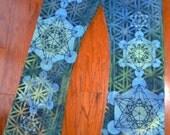 L Metatron's Cube Sacred Geometry Yoga Pants w/ Honeycomb, Flower of Life, Geometric Chakras