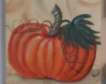 "Fall Decor Acrylic on Canvas Originals by Lisa Hayward 6"" X 6"""
