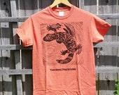 Gila Monster T-Shirt in Orange Unisex Adult Sizes