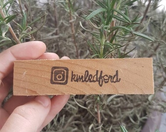 Personalized Instagram Stamp - new logo, rubber stamp, social media, your name, camera
