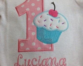 1st Birthday Cupcake Shirt