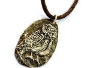 Owl Necklace, Silver Owl Necklace, Wildlife Jewelry, Free Priority Shipping in US, Handmade Gift, Jewelry One of a Kind