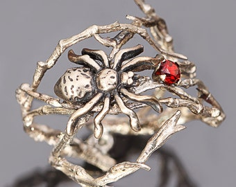 Sterling Silver Twig Ring Spider Ring Twig Ring Spider Jewelry