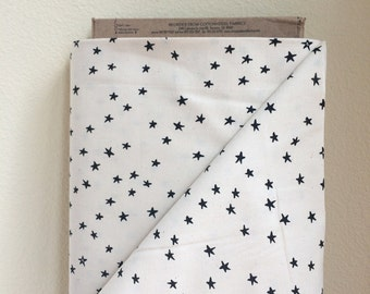Cotton and Steel Print Shop STARRY-Black By the 1/2 Yard