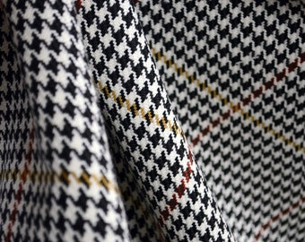 D2934 Pembrook Onyx Houndstooth Check Plaid Fabric