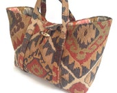 Upholstery Tote Knitting Bag Project Organizer Southwestern