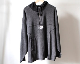 vintage NIKE 90s swoosh Michael Jordan Embroidered HOOPS nba basketball football HOODIE sweatshirt