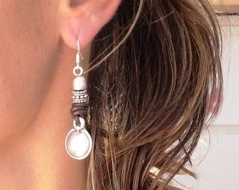 round earrings, Boho earrings, boho jewelry, bohemian earrings, bohemian jewelry, boho fashion, hippie jewelry, jewelry trends