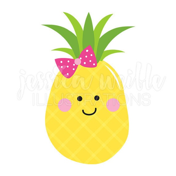 Pineapple Cutie Cute Digital Clipart Pineapple Clip art