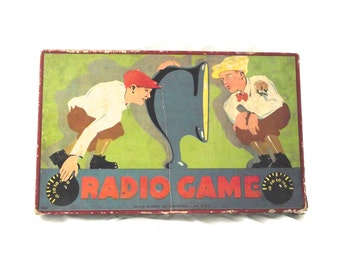 1925 Milton Bradley Radio Game, Vintage Board Game, No. 4625 (K2)