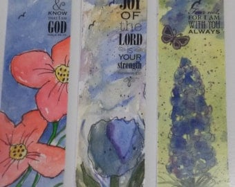 Watercolor Bookmarks Set of Three
