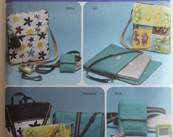 Simplicity 4391 Purses and Bags Sewing Pattern    Totes, Laptop bag, cell phone case, camera case, gadgets by elaine heigl