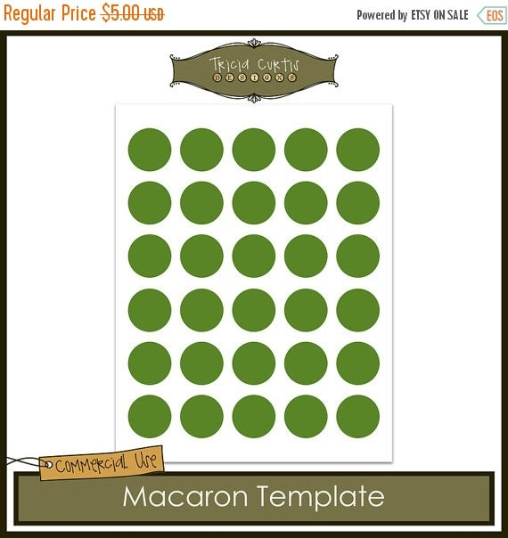 On sale macaron baking sheet template by triciacurtis on etsy for Macaron baking sheet template