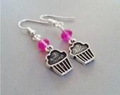 Cupcake Charm Earrings