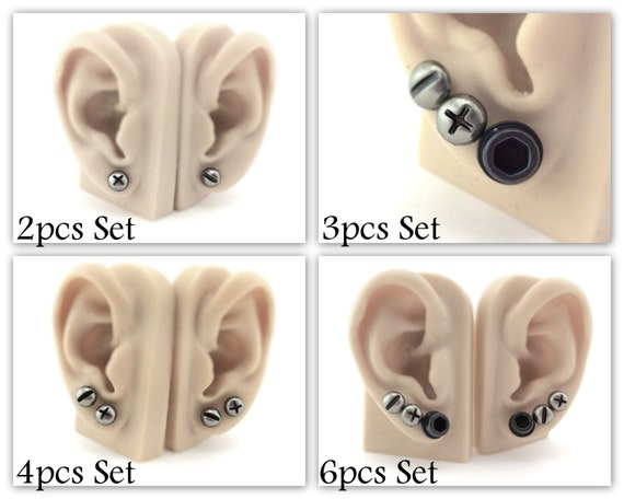Screw Stud Earrings