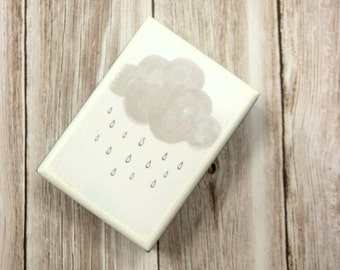 Rain Cloud Box, Rectangle wooden box, wood boxes, wood box, trinket box, Baby's first curl, Toothfairy Box, Desk organizer, Jewelry box