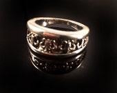 Silver stacking Rings, Ring stack,Fleur-de-lis Silver Band Ring,Artemis jewelry,men's jewelry,men ring, women's ring, thumb ring
