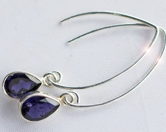 Periwinkle - Beautiful Iolite Sterling Silver Earrings