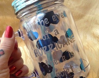 Hamilton Broadway Inspired Cold Drink Mason Jar Tumbler