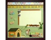 DOG GONE CUTE Pre-Made Memory Album Page (Black Veneer Shadow Box Frame Sold Separately)