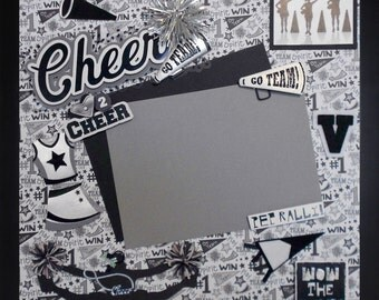WOW THE CROWD Premade Memory Album Page (Gallery Wood Frame Frame Sold Separately)