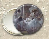ballet dancer pocket mirror,  ballerina art hand mirror, gift for ballet dancer, mirror for purse, bridesmaid gift for her MIR-964