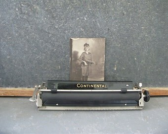 Vintage Typewriter Display Piece, Continental, office decor, typewriter piece, part