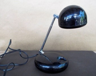 Vintage Mod Tensor Black Telescoping Eyeball Desk Lamp