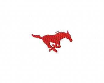 Mustang 1 MINI Made To Match Filled Stitch Machine Embroidery Design INSTANT DOWNLOAD