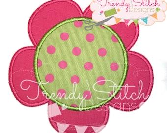 Flower 1 Applique Design Machine Embroidery Design INSTANT DOWNLOAD