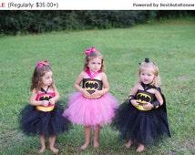 Bat Man Tutu costume Super Hero Tutu Halloween Costume Batman Robin Spiderman Superman Inspired tutu dress costume