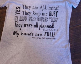 Yes! They are ALL Mine T Shirt for women