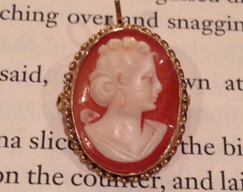 Vintage / brooch / pin / necklace / Cameo