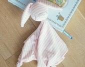 Baby Girl Striped Bunny Security Blanket Organic Cotton Ethically Made