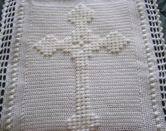 """Crochet Celtic Cross Blanket Pattern, PDF Download, 32"""" x 26"""" (81 cm x 66 cm) approx"""