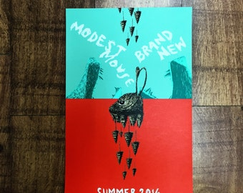 Official Modest Mouse and Brand new tour poster (limited numbers left )